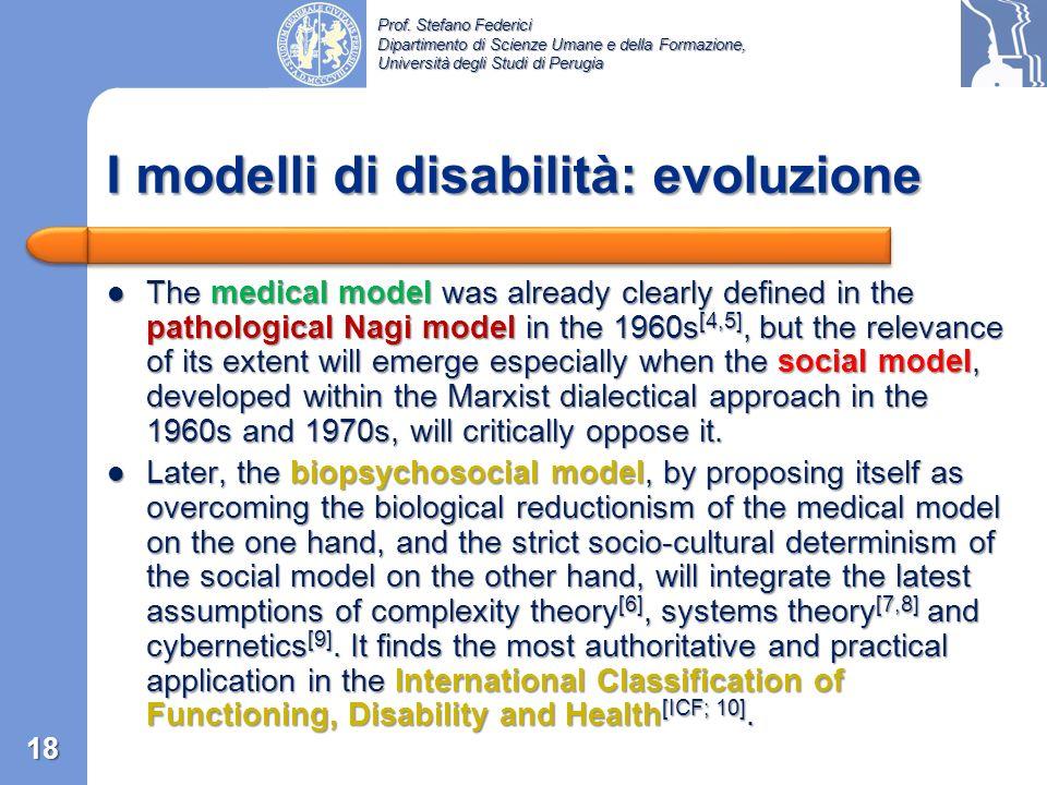 I modelli di disabilità: evoluzione