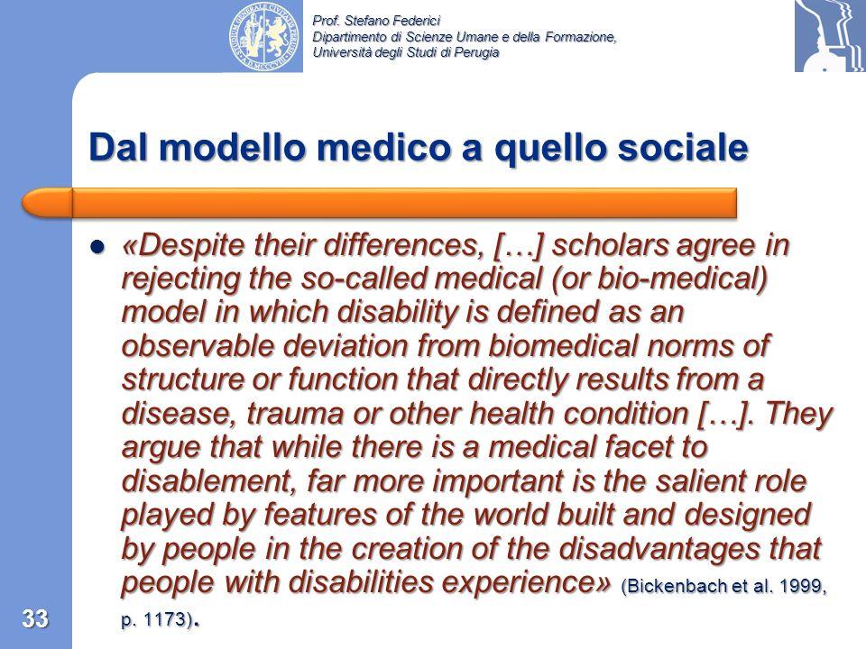 Dal modello medico a quello sociale