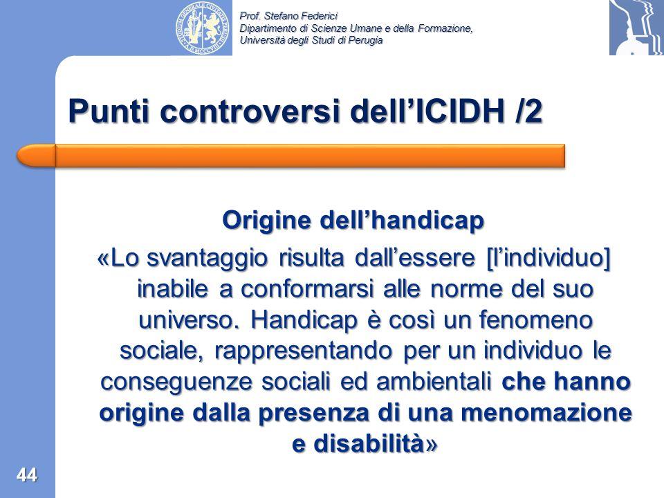 Punti controversi dell'ICIDH /2