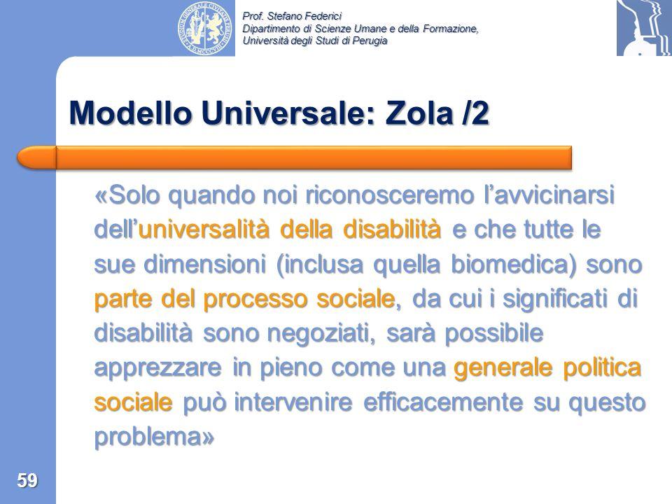 Modello Universale: Zola /2