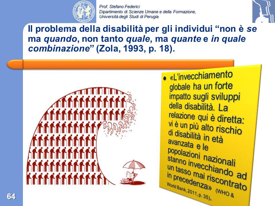 Il problema della disabilità per gli individui non è se ma quando, non tanto quale, ma quante e in quale combinazione (Zola, 1993, p. 18).