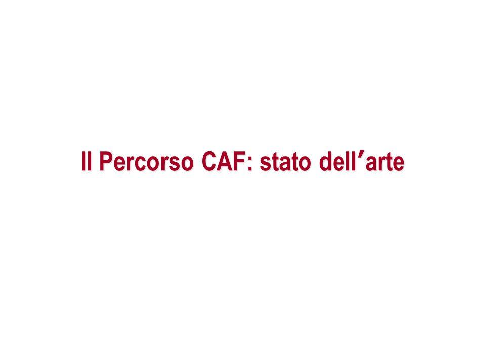 Il Percorso CAF: stato dell'arte