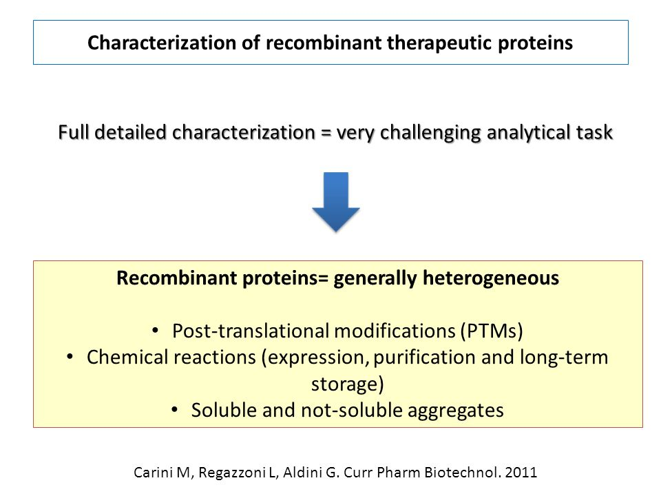 Characterization of recombinant therapeutic proteins
