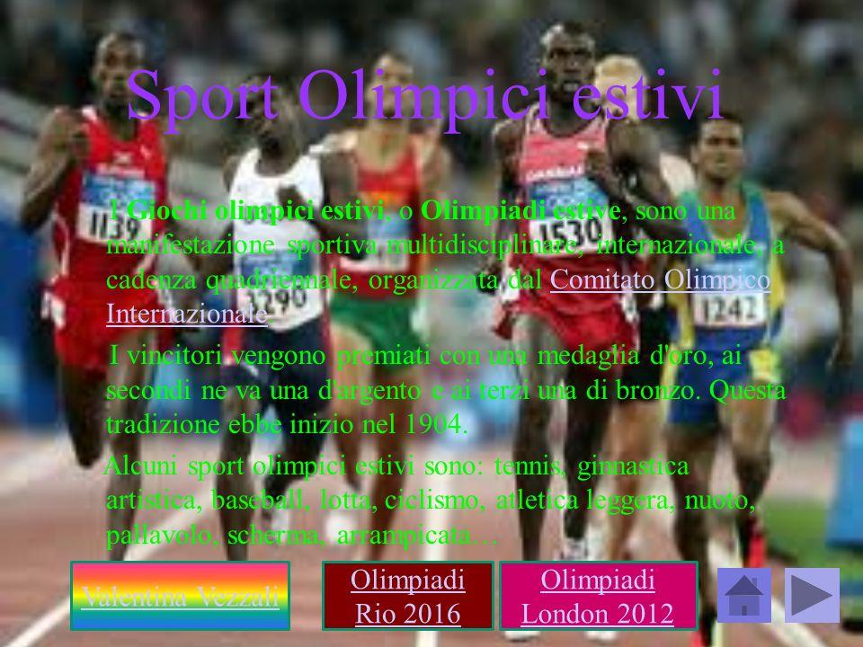 Sport Olimpici estivi