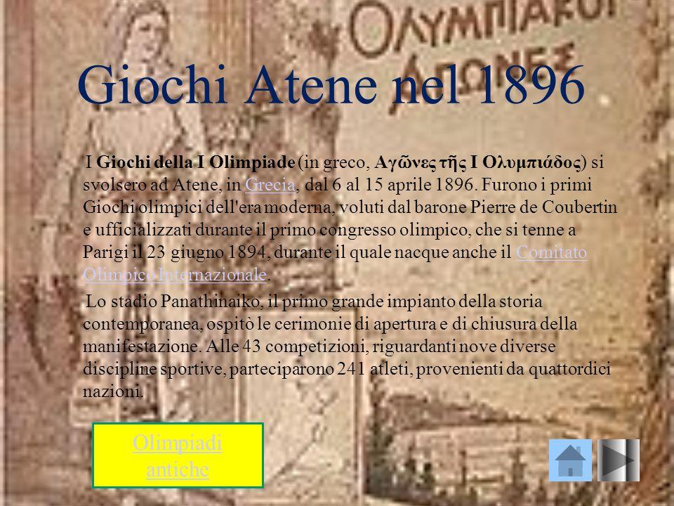Giochi Atene nel 1896 Olimpiadi antiche