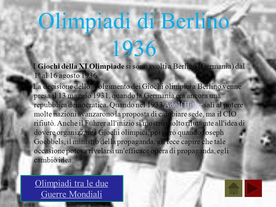 Olimpiadi tra le due Guerre Mondiali