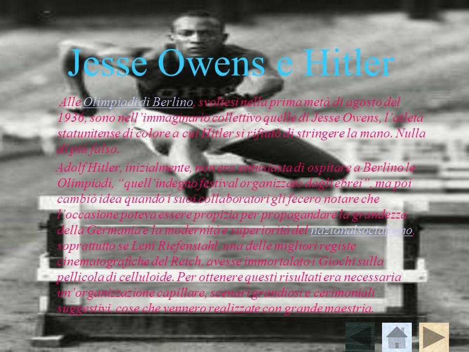 Jesse Owens e Hitler