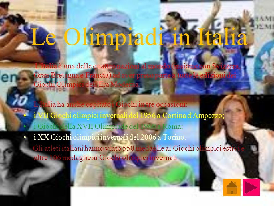 Le Olimpiadi in Italia