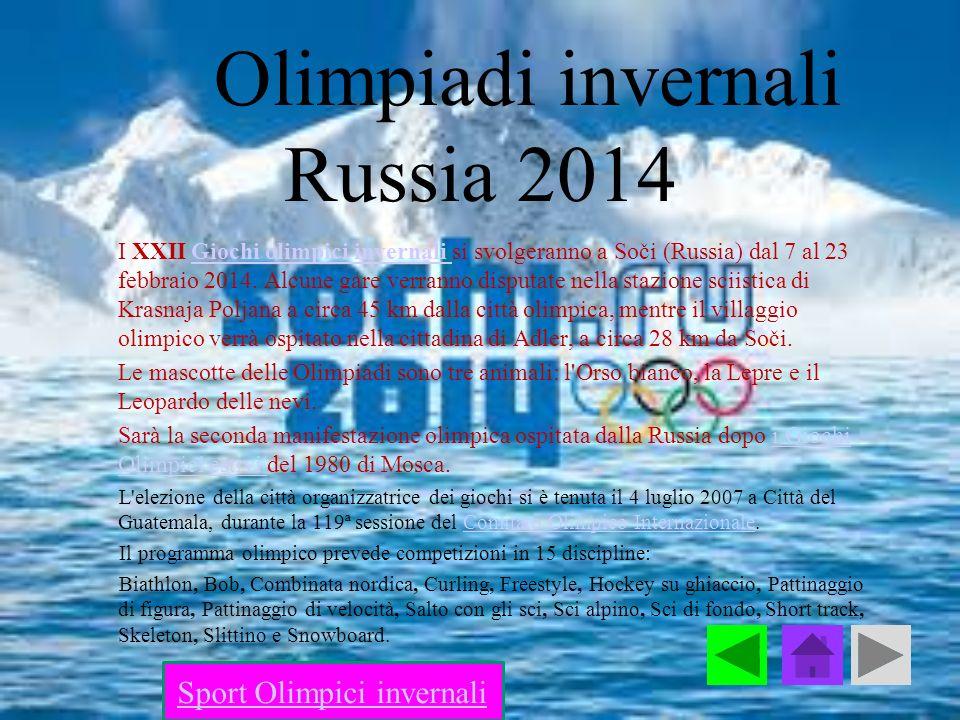 Olimpiadi invernali Russia 2014