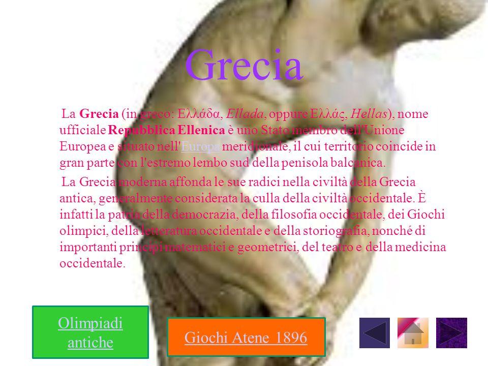 Grecia Olimpiadi antiche Giochi Atene 1896