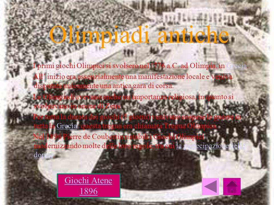 Olimpiadi antiche Giochi Atene 1896