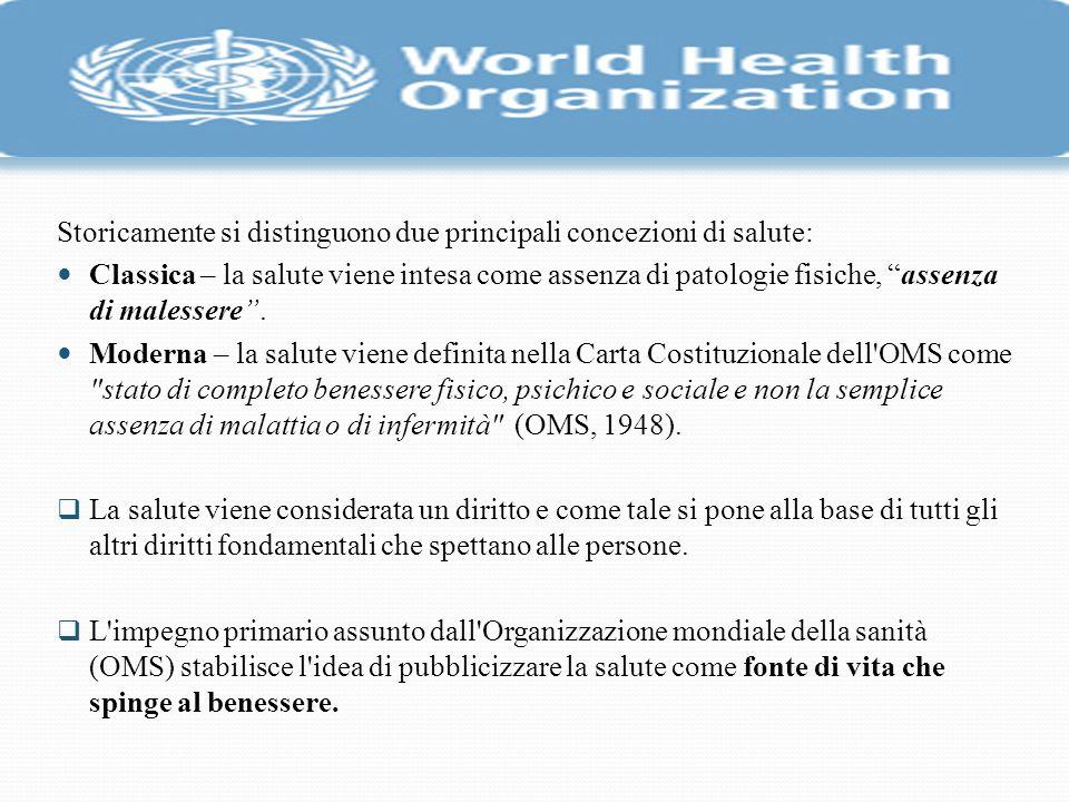 Storicamente si distinguono due principali concezioni di salute: