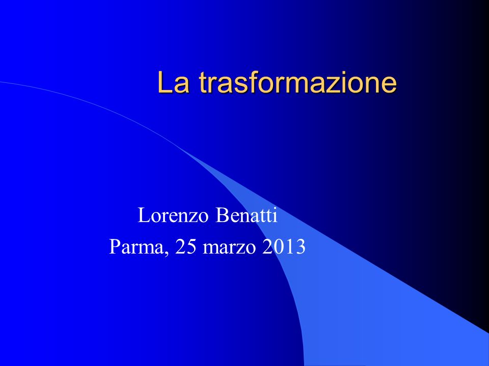 Lorenzo Benatti Parma, 25 marzo 2013