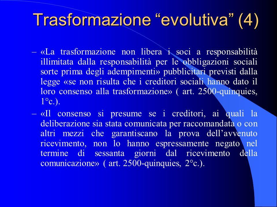 Trasformazione evolutiva (4)