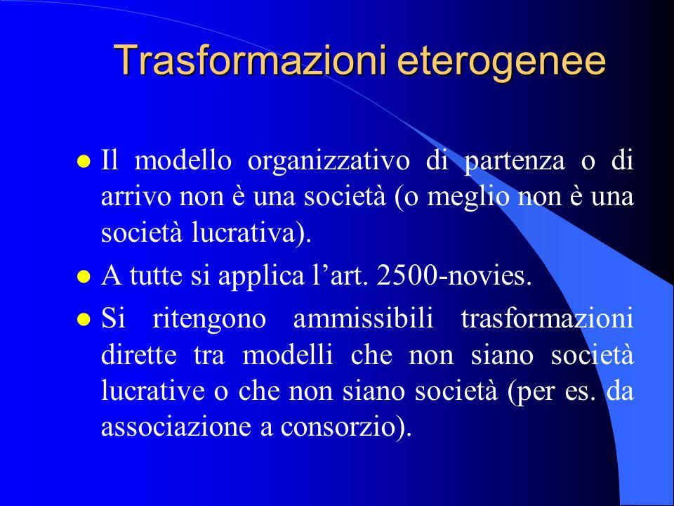 Trasformazioni eterogenee