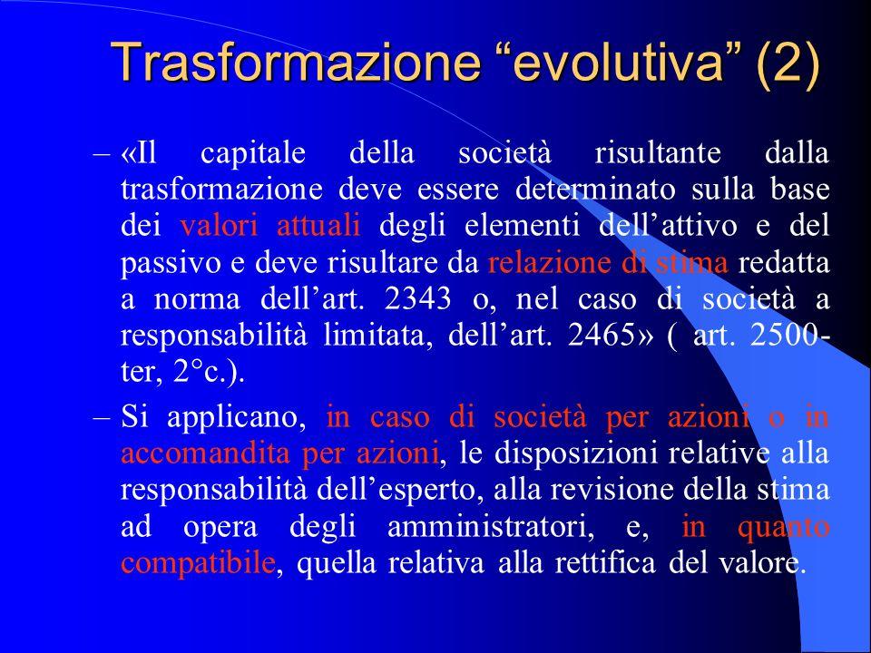Trasformazione evolutiva (2)