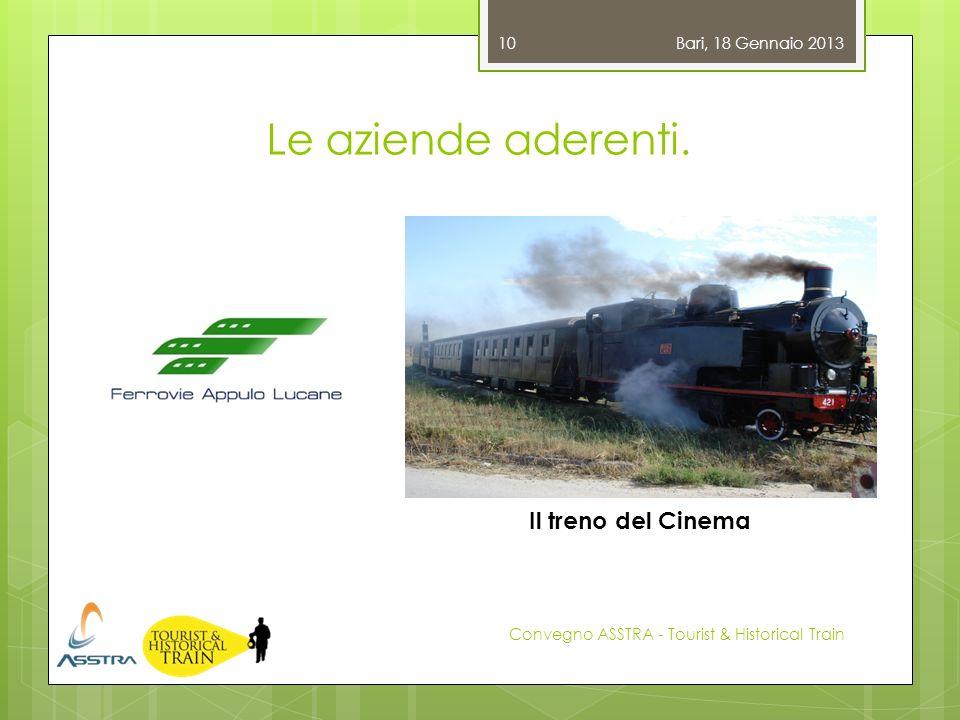 Le aziende aderenti. Il treno del Cinema Bari, 18 Gennaio 2013
