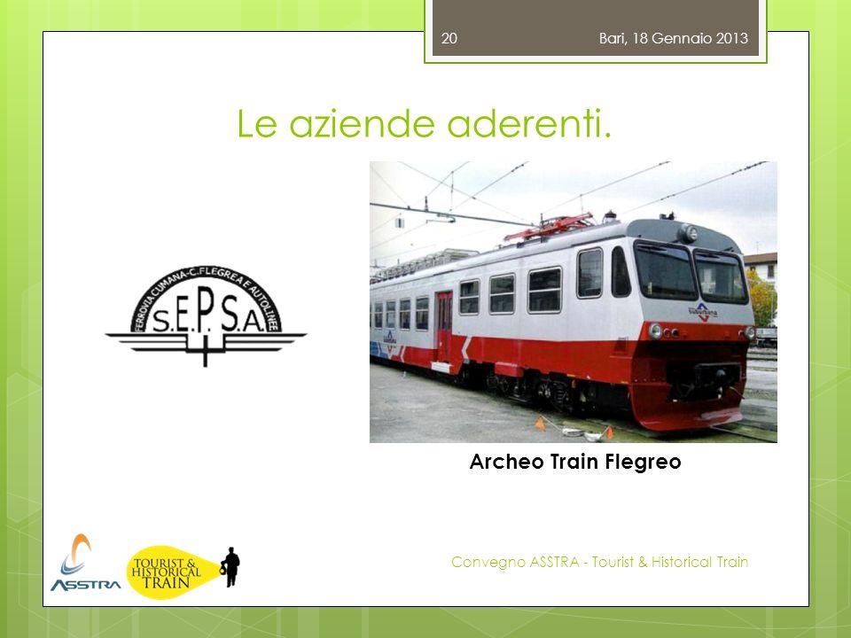 Le aziende aderenti. Archeo Train Flegreo Bari, 18 Gennaio 2013