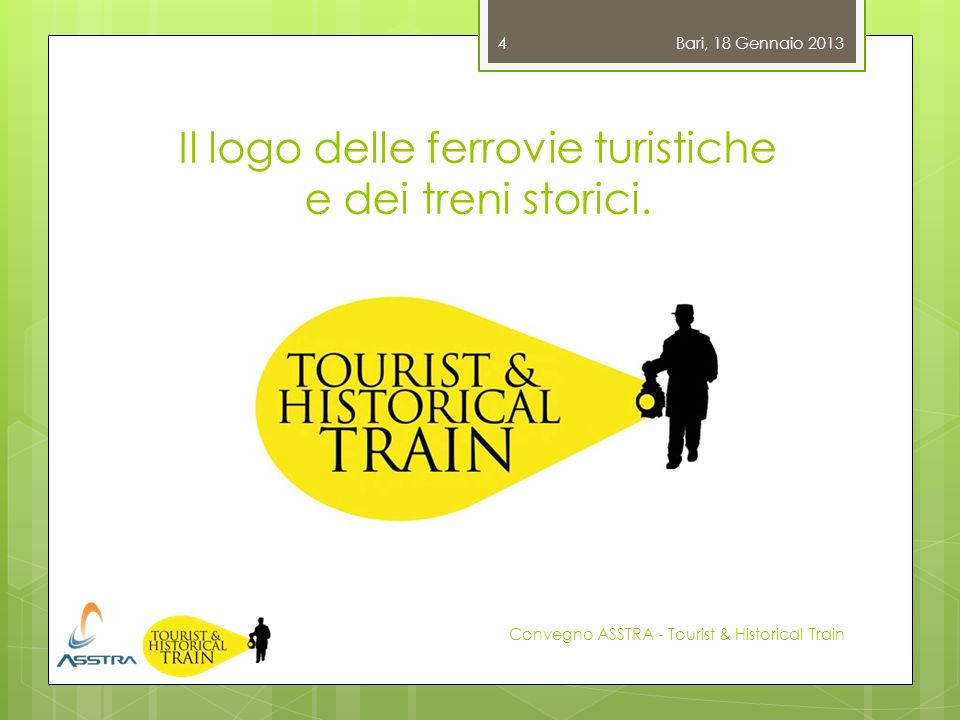 Il logo delle ferrovie turistiche e dei treni storici.