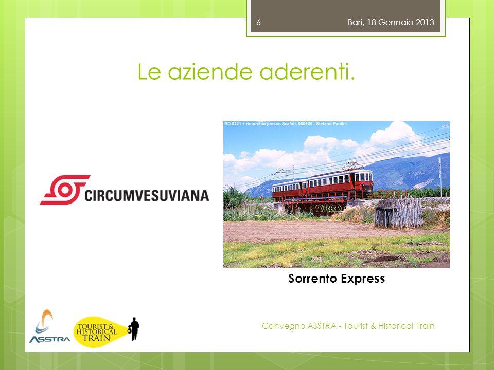 Le aziende aderenti. Sorrento Express Bari, 18 Gennaio 2013