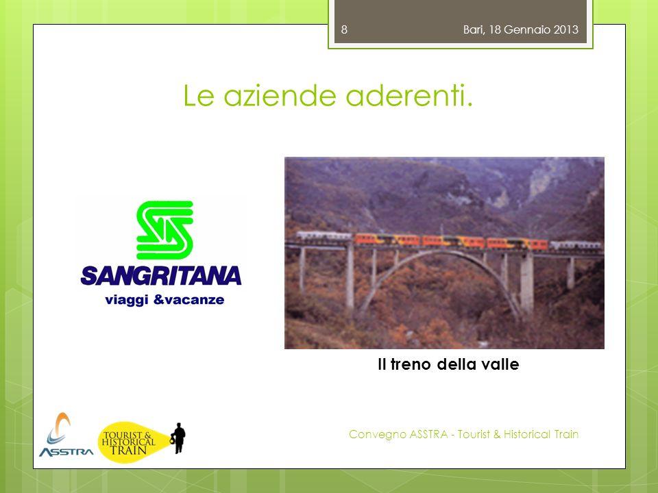 Le aziende aderenti. Il treno della valle Bari, 18 Gennaio 2013
