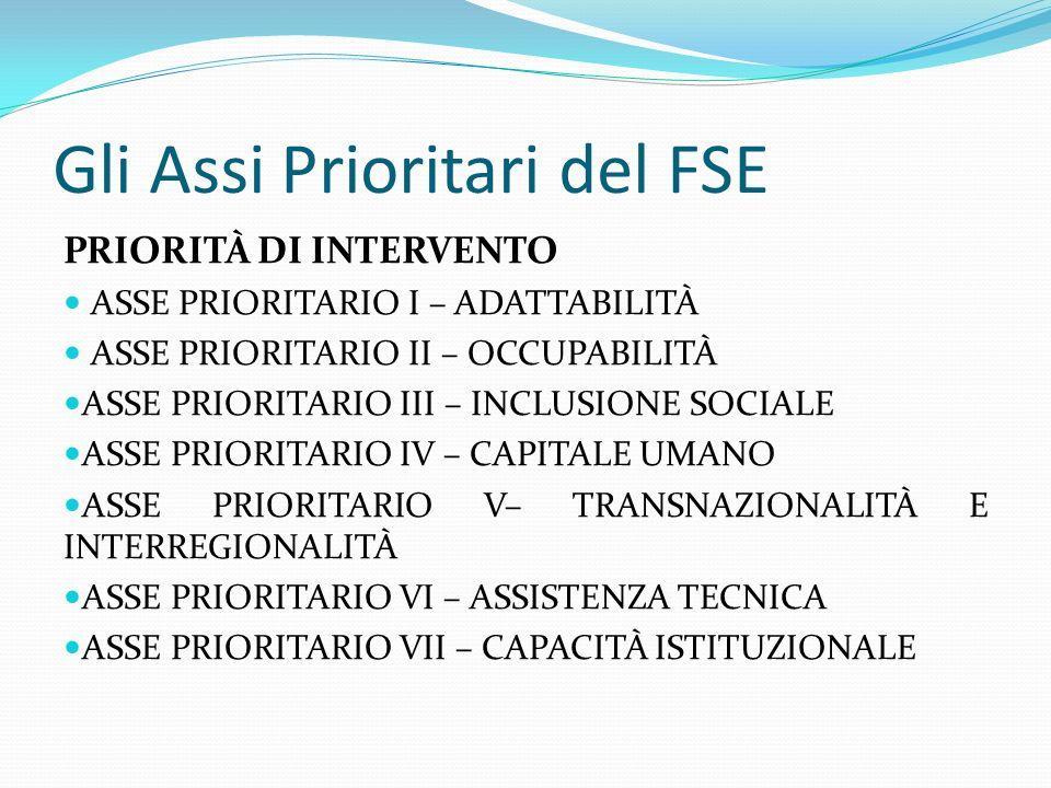 Gli Assi Prioritari del FSE
