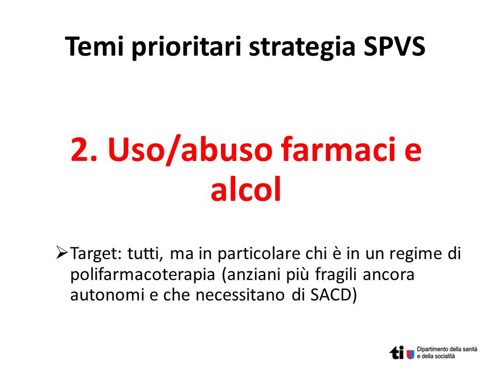 Temi prioritari strategia SPVS