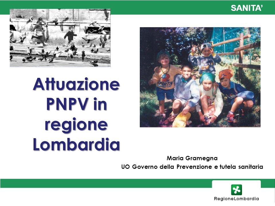 Attuazione PNPV in regione Lombardia