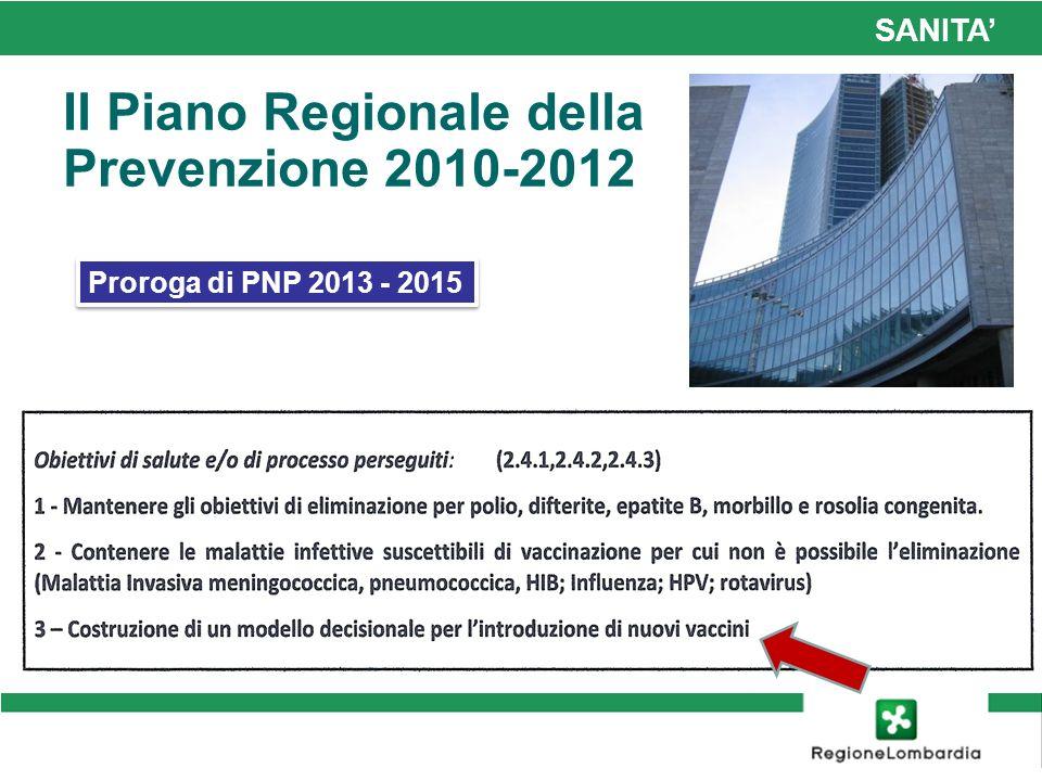 Il Piano Regionale della Prevenzione 2010-2012