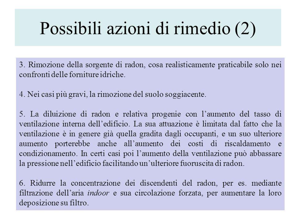 Possibili azioni di rimedio (2)