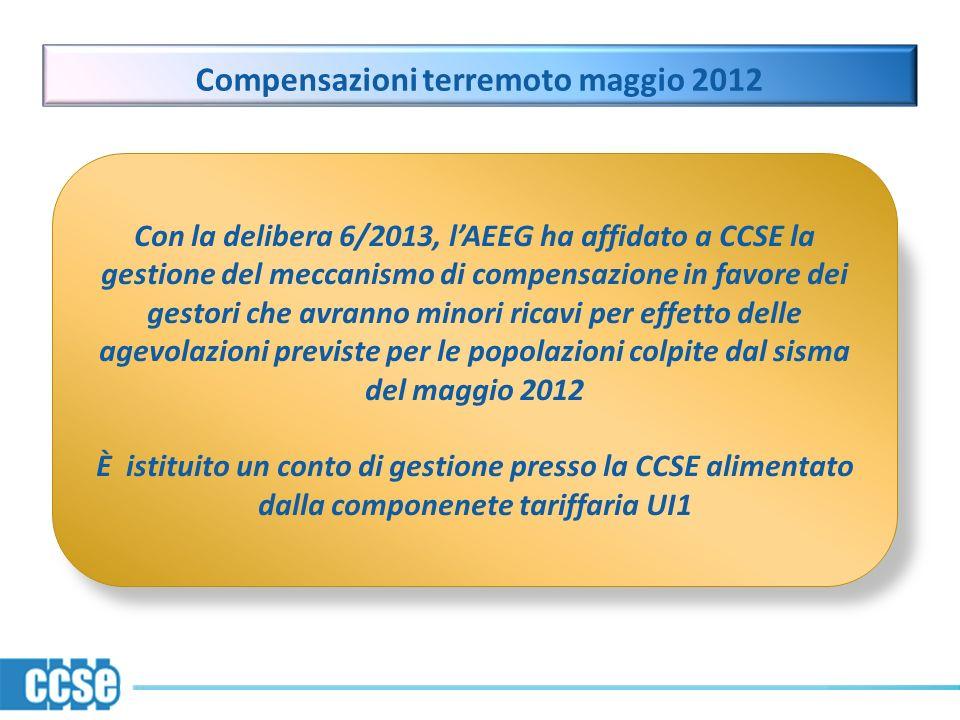 Compensazioni terremoto maggio 2012