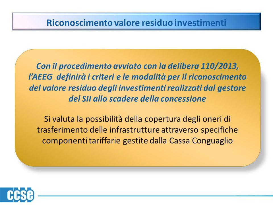 Riconoscimento valore residuo investimenti