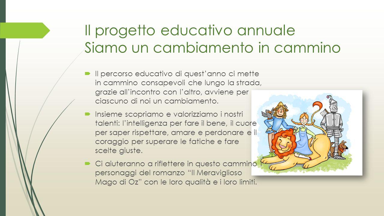 Il progetto educativo annuale Siamo un cambiamento in cammino