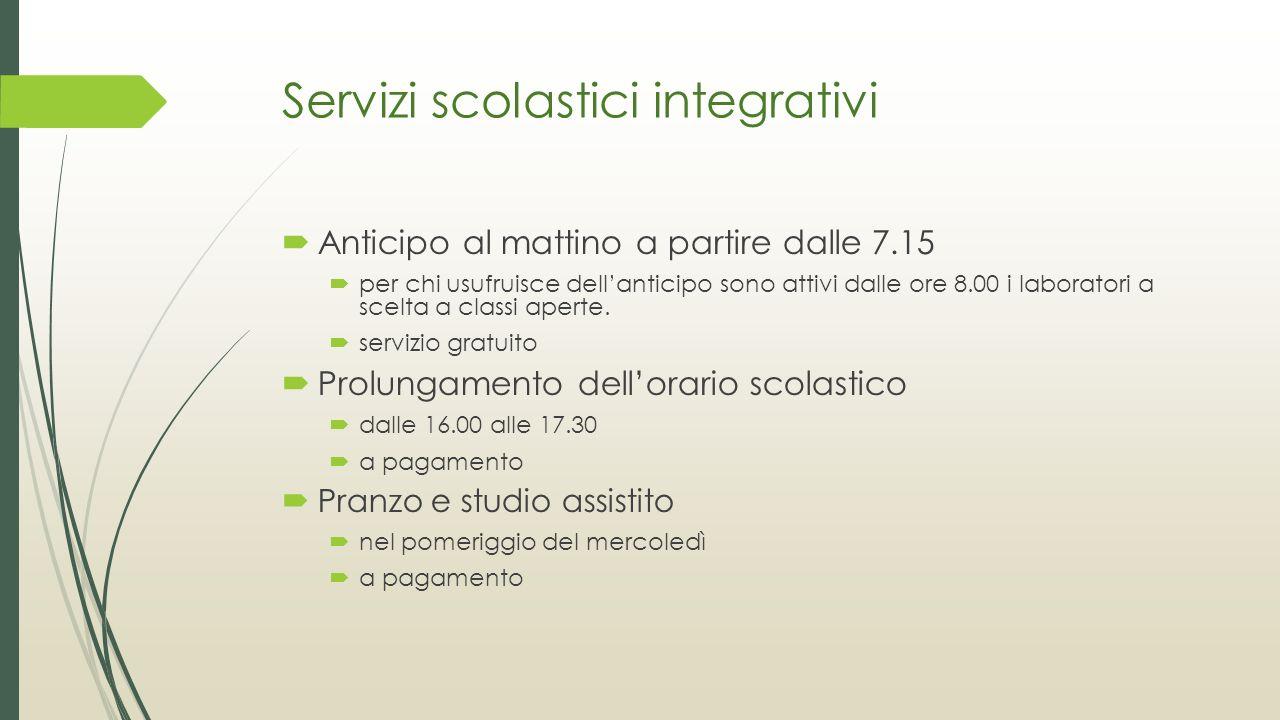 Servizi scolastici integrativi