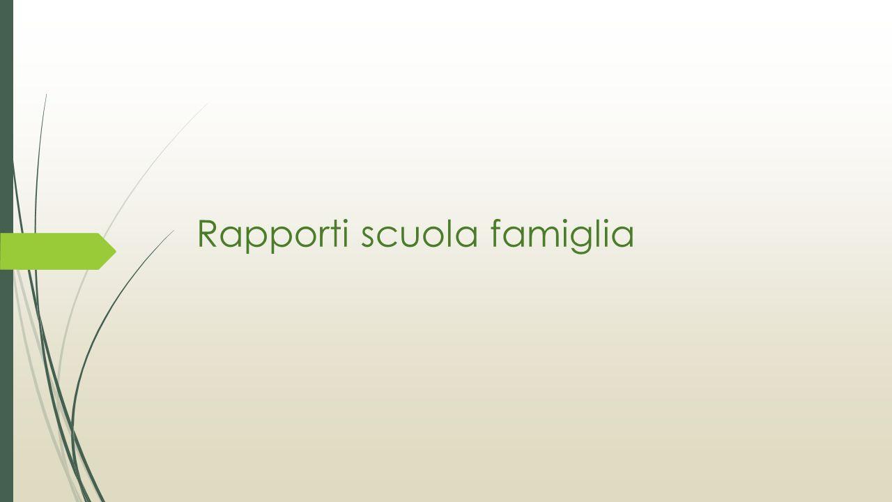Rapporti scuola famiglia