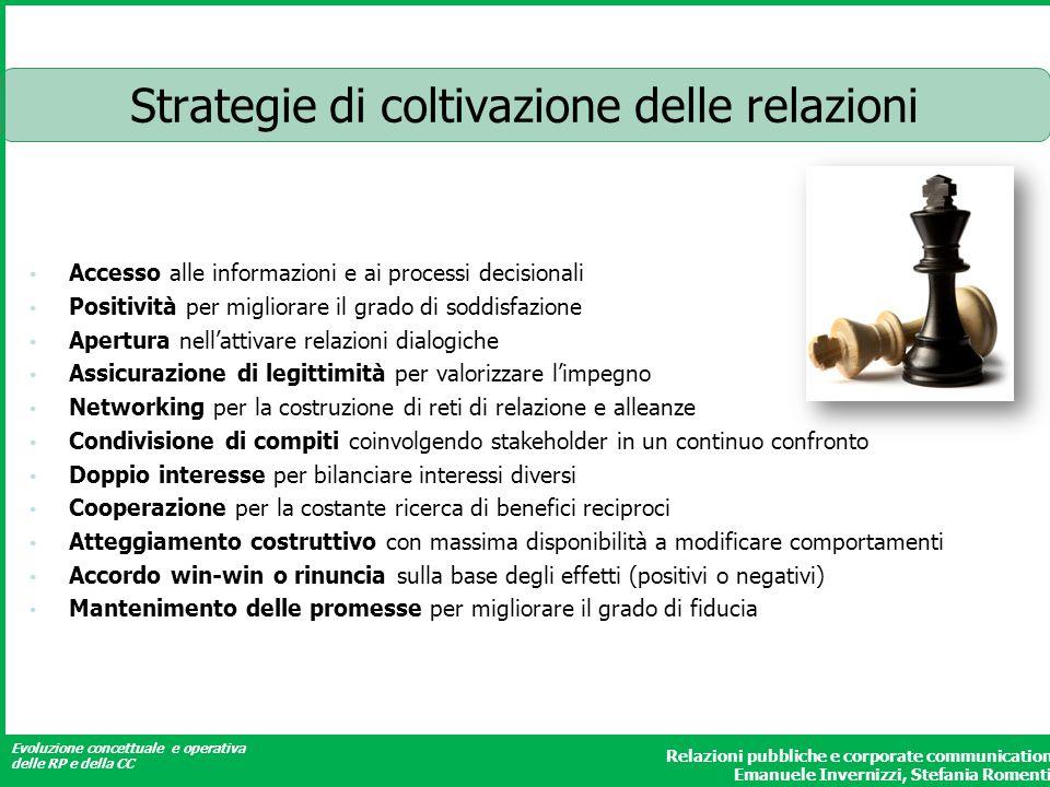 Strategie di coltivazione delle relazioni