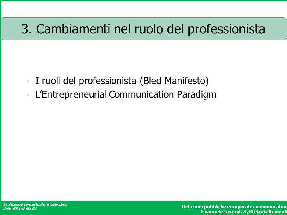 3. Cambiamenti nel ruolo del professionista