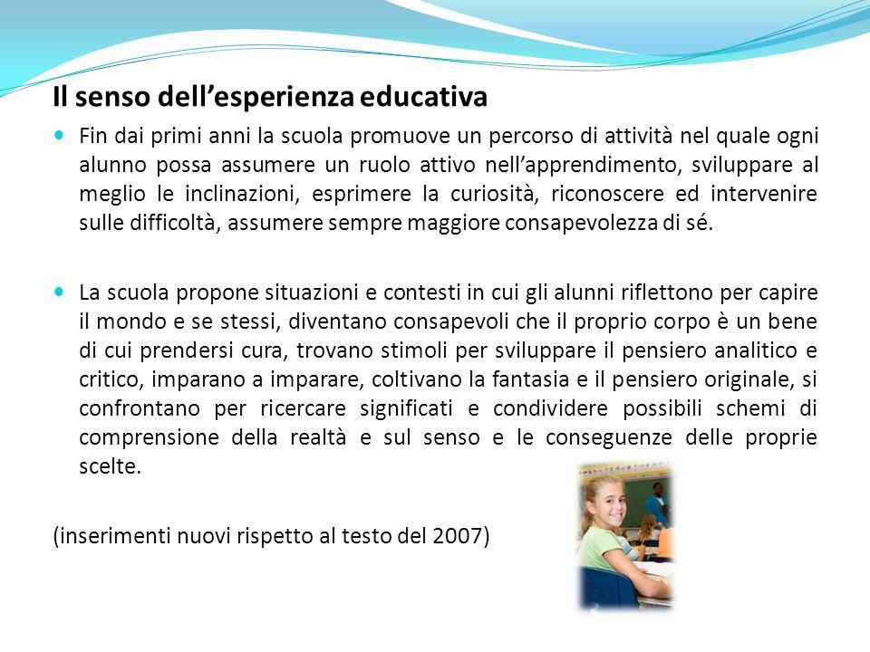 Il senso dell'esperienza educativa