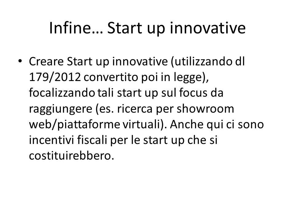 Infine… Start up innovative