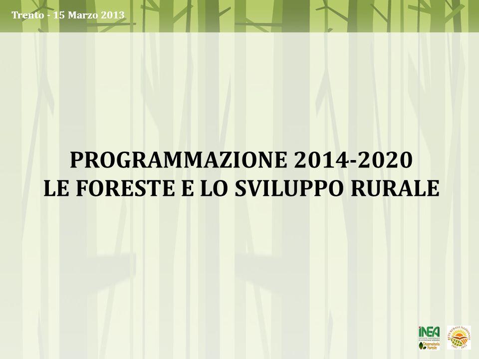 Le foreste e lo sviluppo rurale