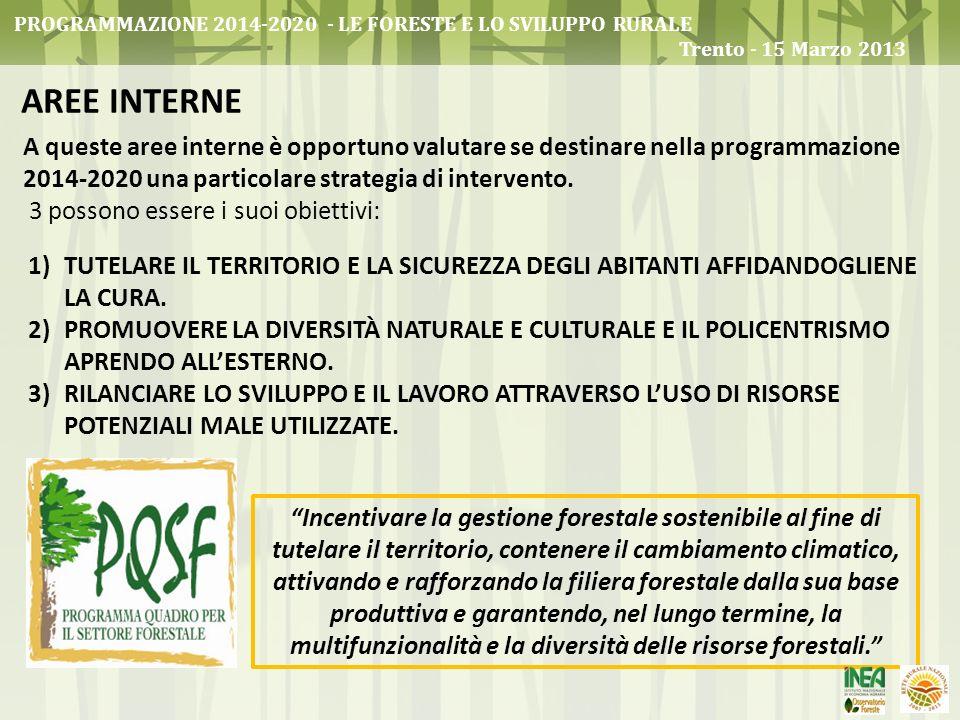 Programmazione 2014-2020 - Le foreste e lo sviluppo rurale