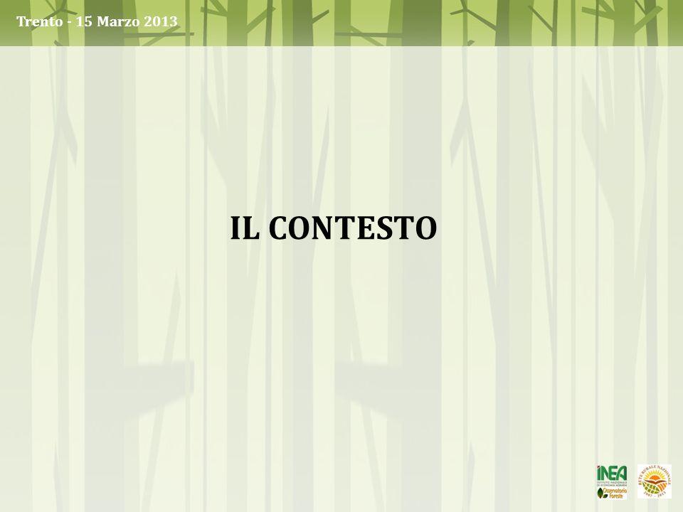 Trento - 15 Marzo 2013 Il contesto
