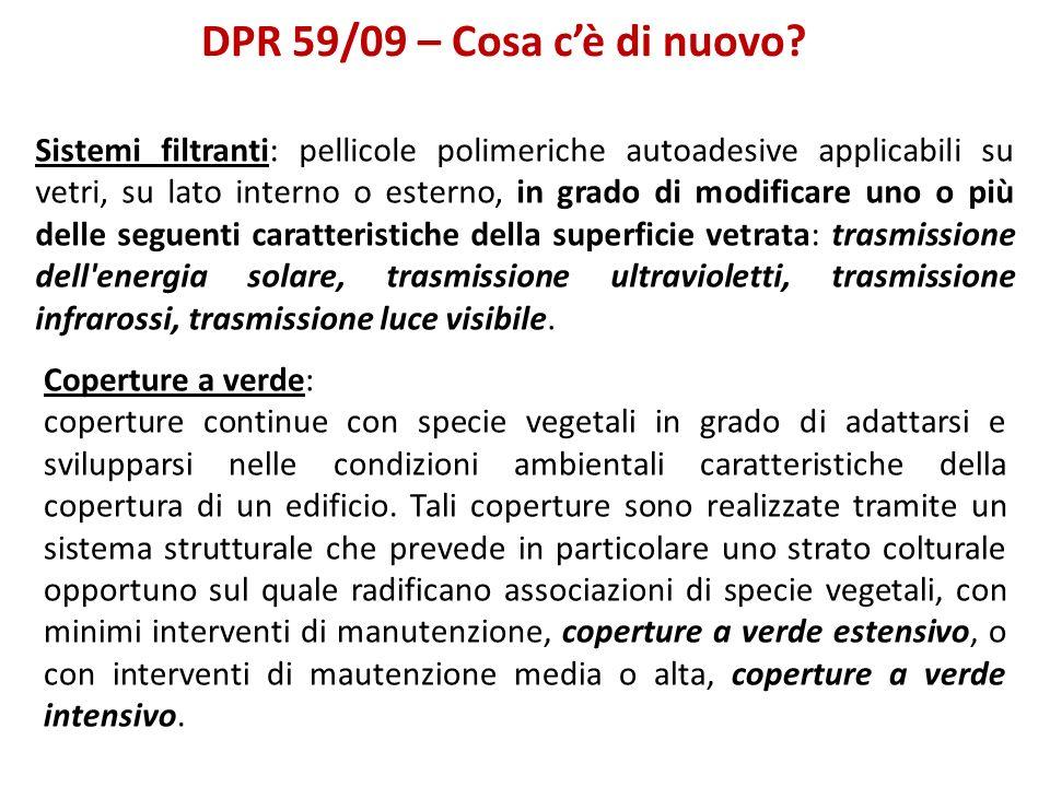 DPR 59/09 – Cosa c'è di nuovo