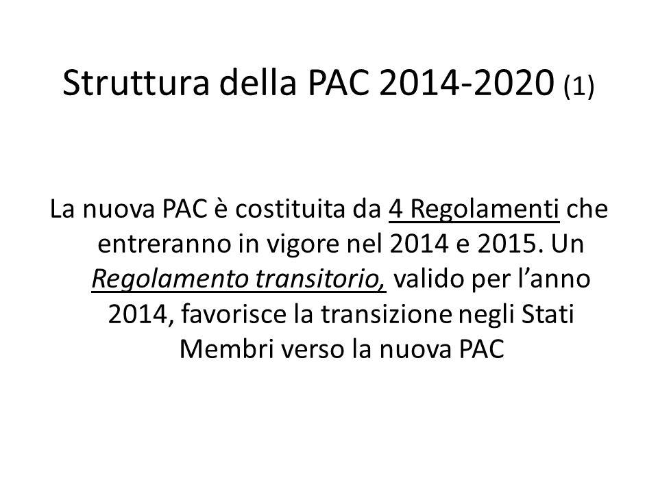 Struttura della PAC 2014-2020 (1)
