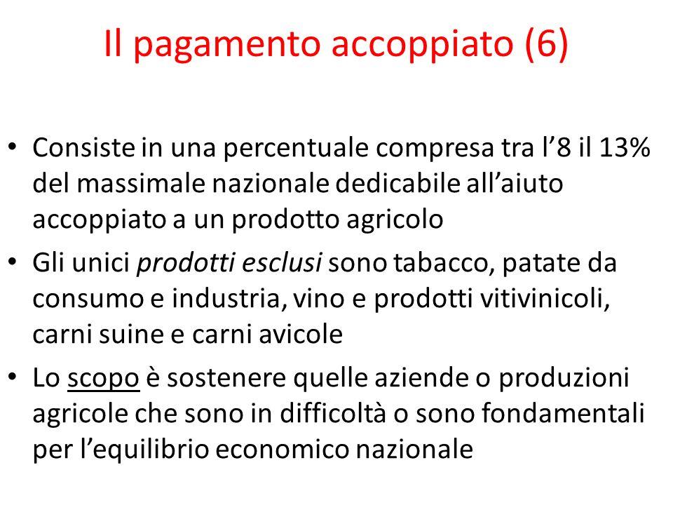 Il pagamento accoppiato (6)