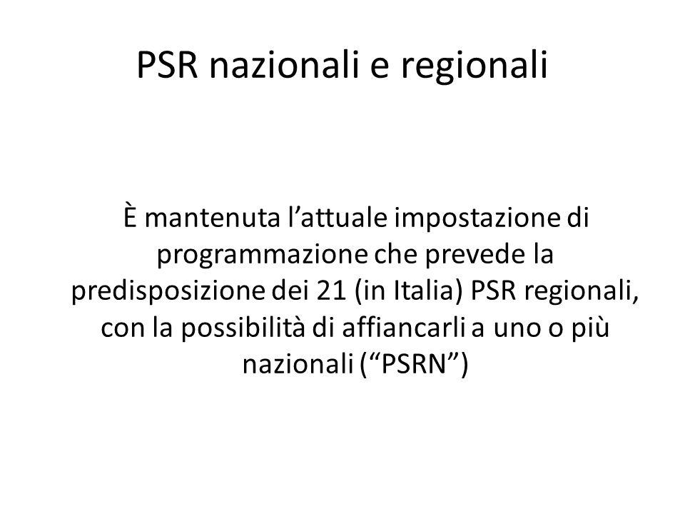 PSR nazionali e regionali