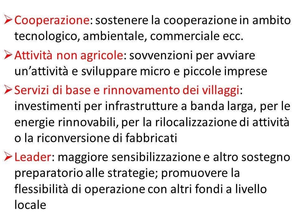 Cooperazione: sostenere la cooperazione in ambito tecnologico, ambientale, commerciale ecc.