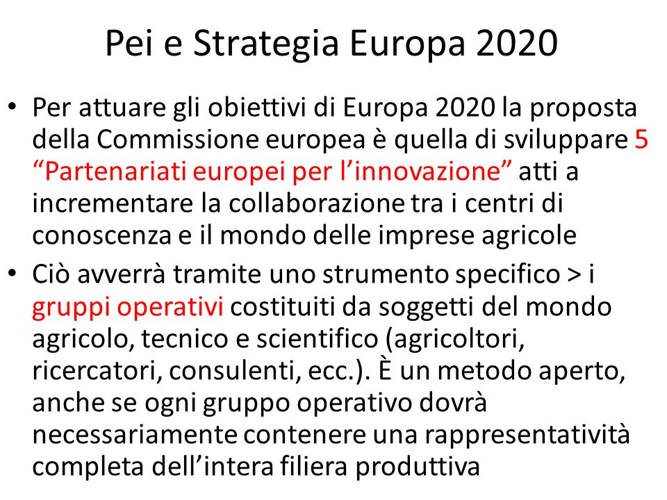 Pei e Strategia Europa 2020