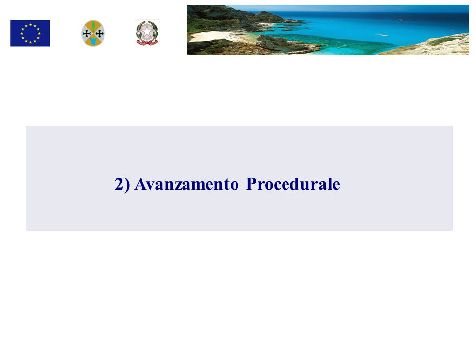2) Avanzamento Procedurale