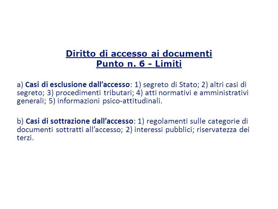 Diritto di accesso ai documenti